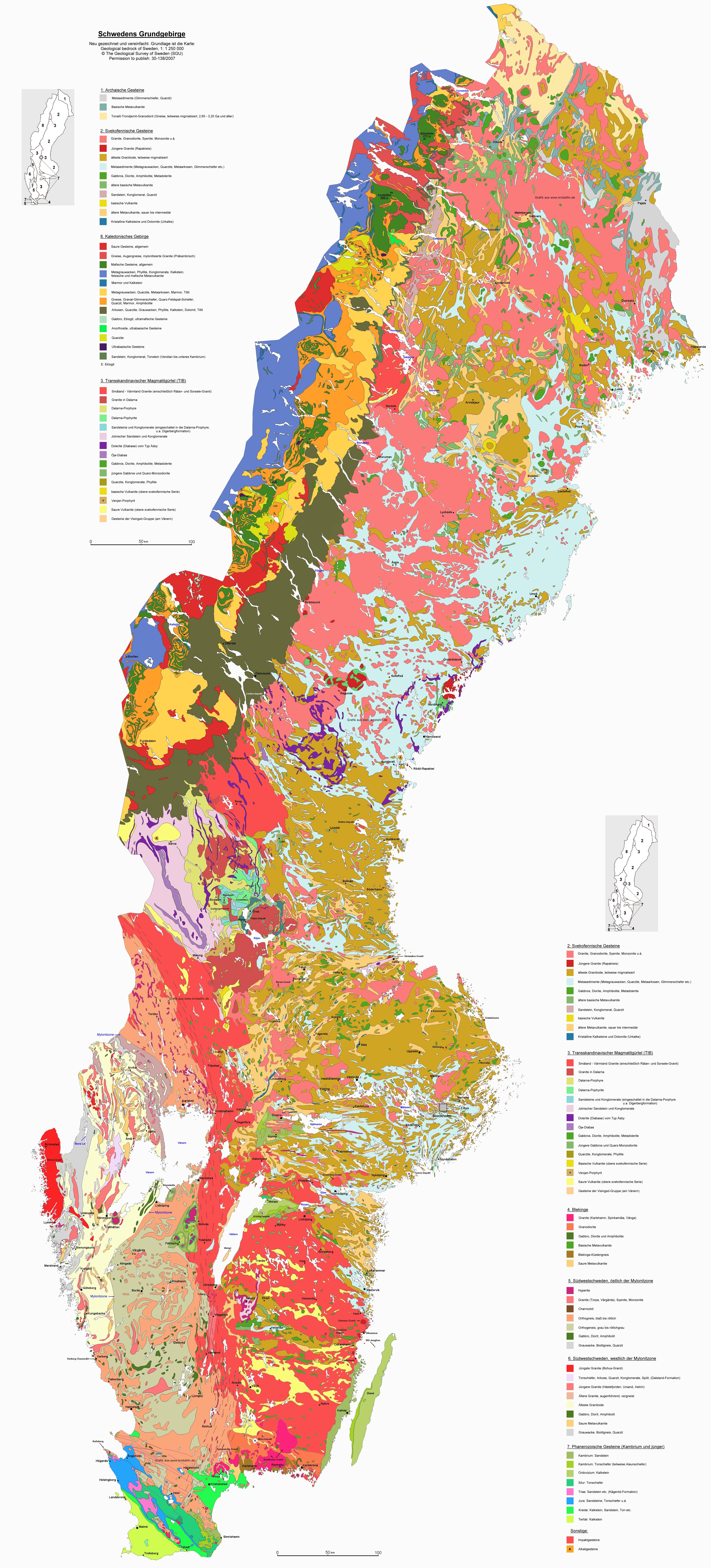 Skandinavien Karte Pdf.Geologische Karten Von Skandinavien Schweden Finnland